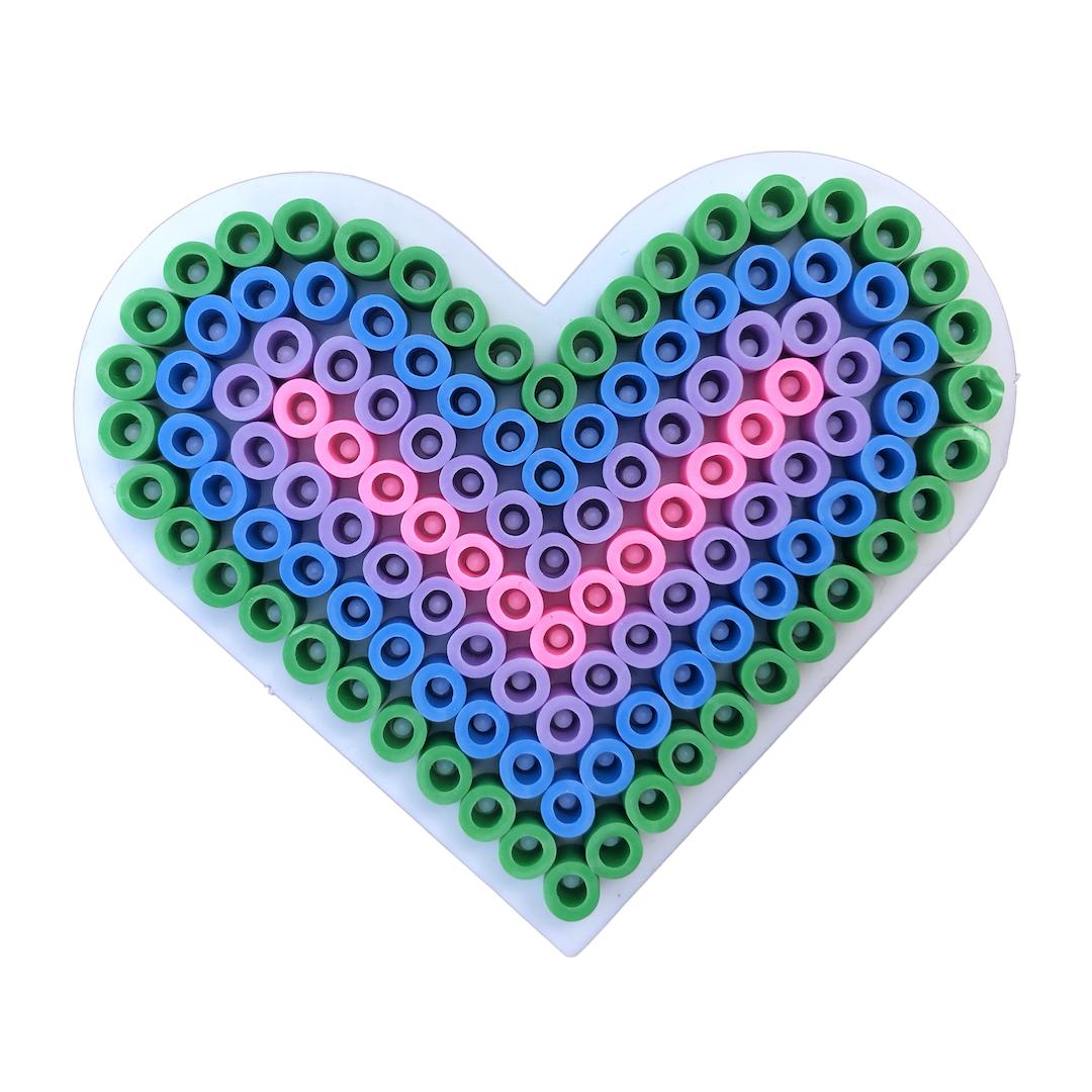 Hjärta med rörpärlor